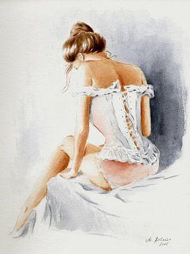 Schöne sexy Frau in Dessous von