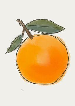 Sinaasappel 1 van Romee Heuitink