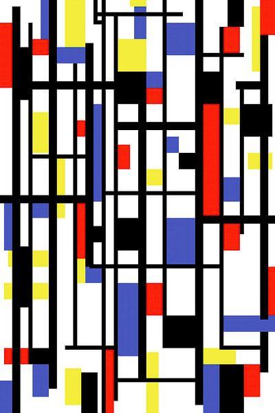 Mondriaan stijl gemaakt kunstwerk van Gert Hilbink