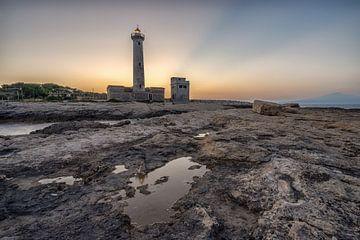 Vuurtoren van Augusta (Sicilie) van Mario Calma