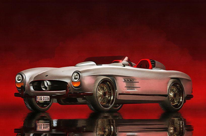 Klassieke auto – Oldtimer Mercedes 300SL Daytona Roadster van Jan Keteleer