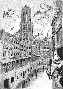 Wyveren über Utrecht von Peter Nederlof