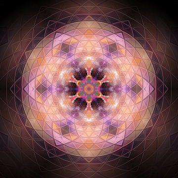 Mandala rose sur Sabine Wagner