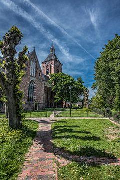 Kerkje in het Groningse plaatsje Middelstum van Harrie Muis