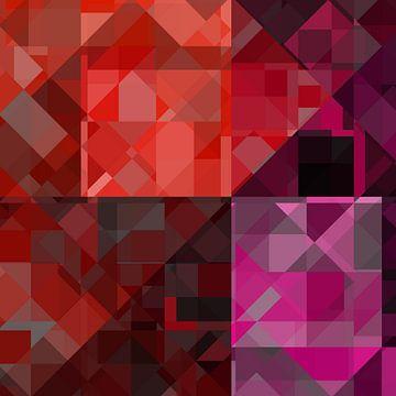 Bauhaus stijlen Karo222 Rood van Claudia Gründler