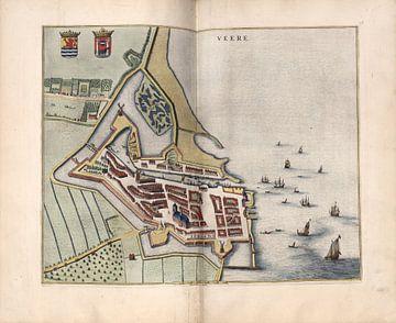 Veere, Stadsplattegrond Joan Blaeu 1652 van Atelier Liesjes