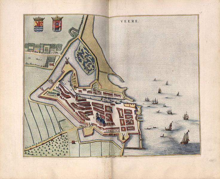 Veere, Stadtplan Joan Blaeu 1652 von Atelier Liesjes