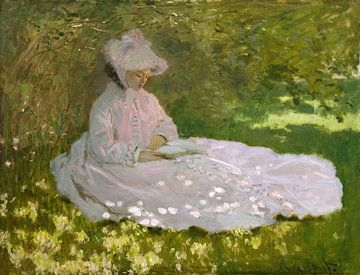 Springtime / A Woman Reading, Claude Monet sur Meesterlijcke Meesters