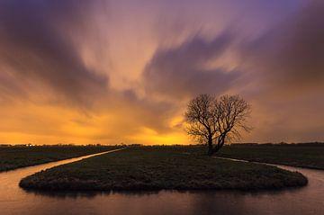 Kunstlicht in de polder von Frans Batenburg