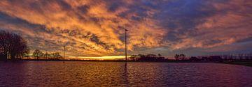Zonsopkomst bij de IJsbaan / Sunrise at the Icerink van Henk de Boer
