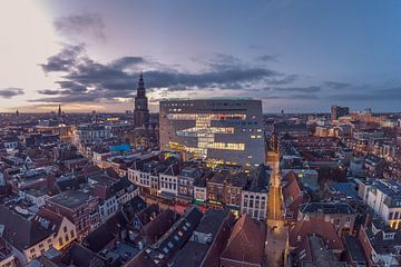 Bunter Blick auf das Forum Groningen von Peter Wiersema