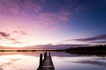Zonsopkomst aan het Lauwersmeer van
