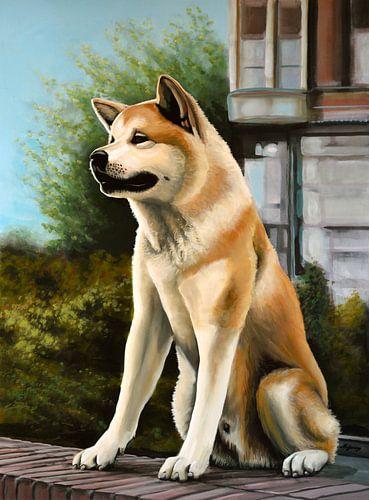 Hachi schilderij van Paul Meijering
