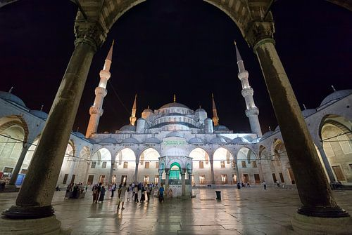 De blauwe moskee in Istanbul von Roy Poots