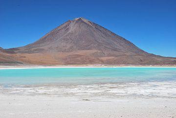 Blauw water in Bolivia van Ilona de Vries