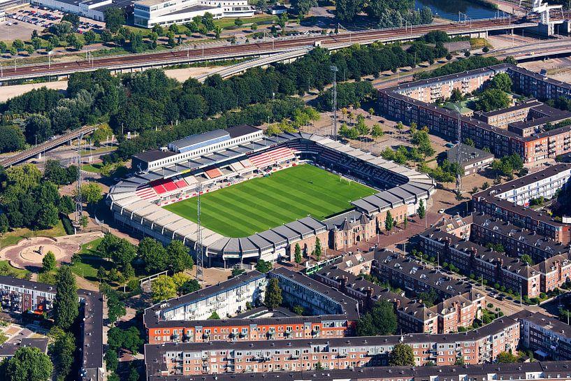 Luchtfoto Sparta stadion te Rotterdam van Anton de Zeeuw