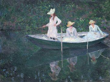 In de Noorse boot in Giverny, Claude Monet