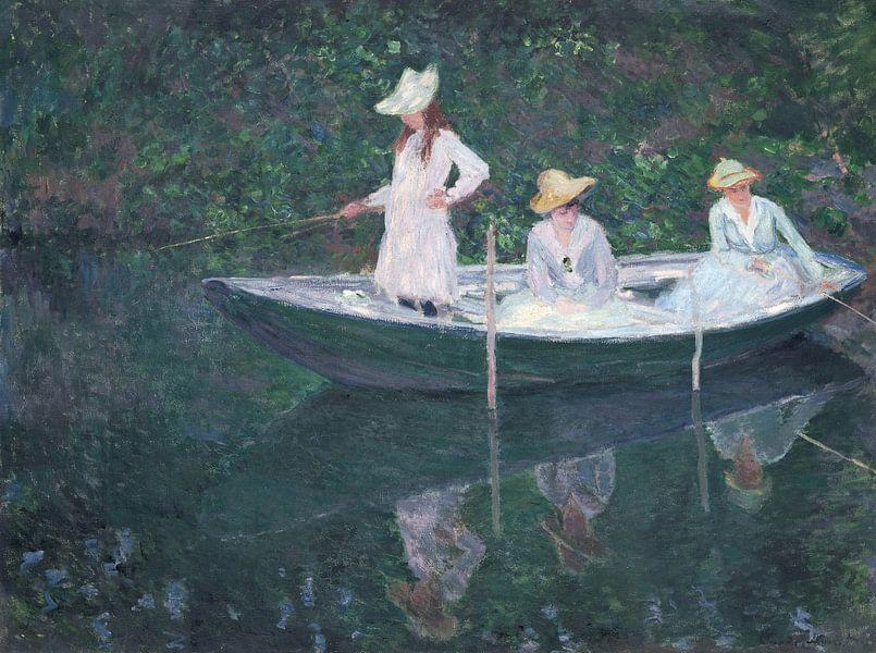In the Norwegian Boat at Giverny, Claude Monet von Meesterlijcke Meesters