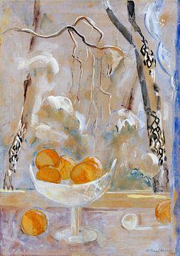 Obstschale mit Winterlandschaft, OSKAR MOLL, 1945 von Atelier Liesjes