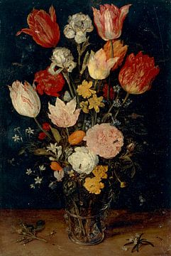 Blumen in einer Vase, Jan Brueghel de Oude