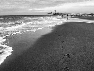 Strandwandeling von Bob Bleeker