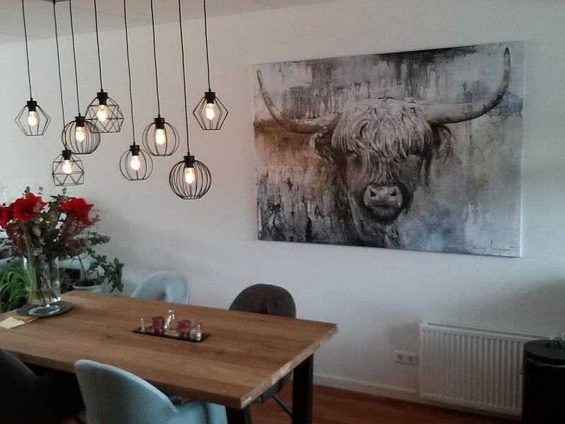 Klantfoto: Highland Cow II van Atelier Paint-Ing