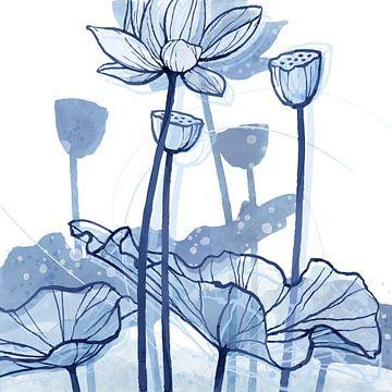 Lotus Delftware 03 von Ingrid Joustra