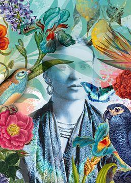 De kus van de vlinder in portretformaat van christine b-b müller