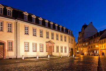 Goethe's huis in Weimar 's nachts... van Werner Dieterich