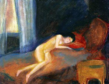 Liegender Akt, WILLI BAUMEISTER, 1912