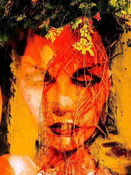 The face and the tree van Gabi Hampe