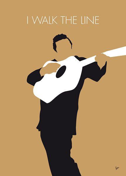 No010 MY Johnny Cash Minimal Music poster van Chungkong Art