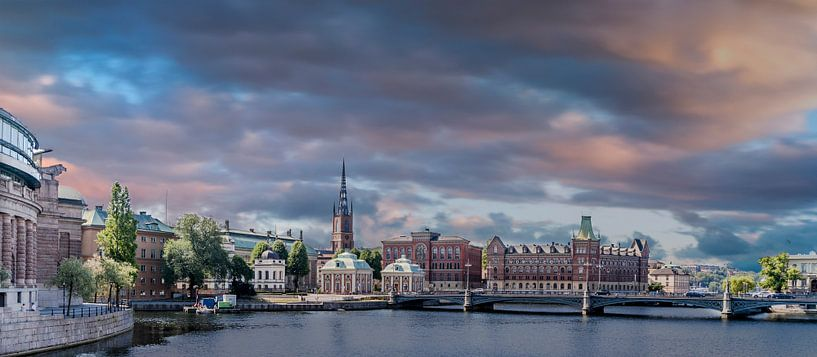Stockholm golden hour van Henry van Schijndel