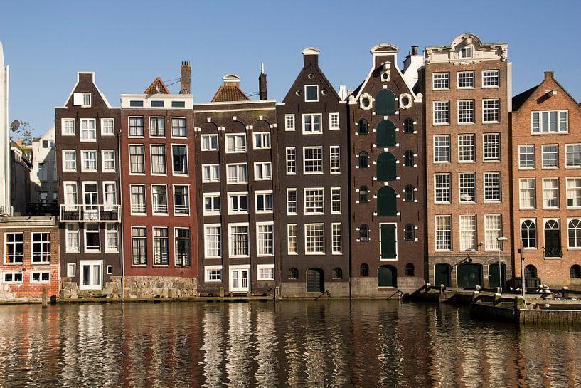Damrak in Amsterdam van Jan Kranendonk