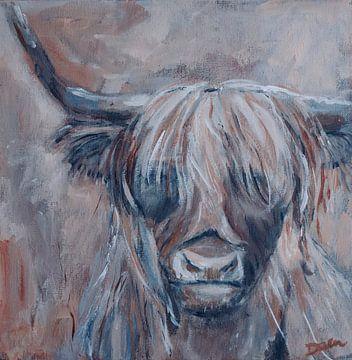 Portret Schotse Hooglander van Mieke Daenen