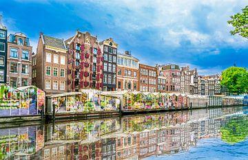 De Bloemenmarkt in Amsterdam van Ivo de Rooij