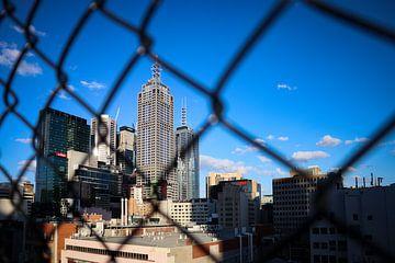 Blick auf die Skyline von Melbourne, Australien, von einer Bar auf dem Dach von Willemijn1712