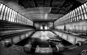 Verlaten zwembad van Eus Driessen