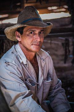 Cuba sigaren boer portret