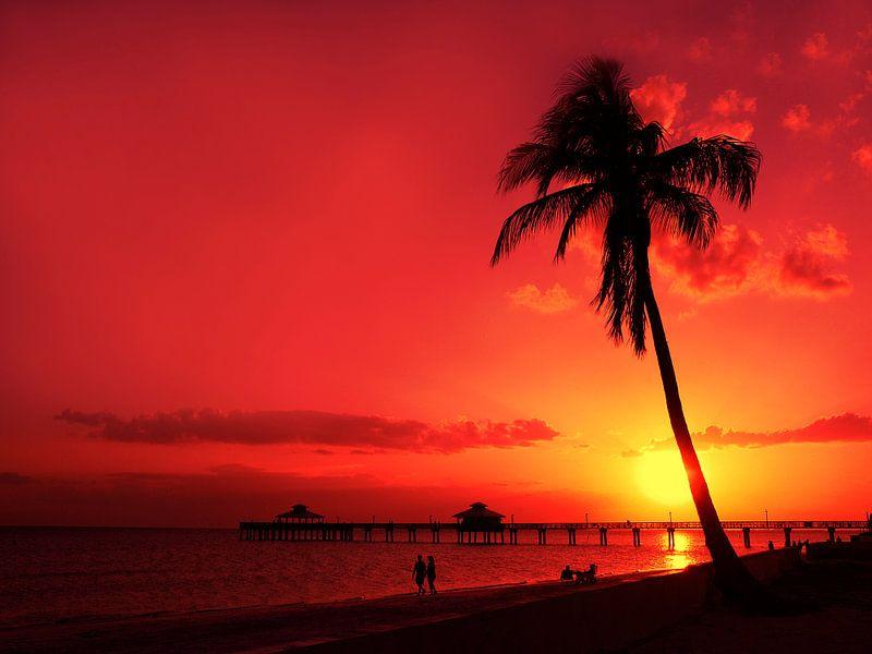 Romantische zonsondergang van Melanie Viola
