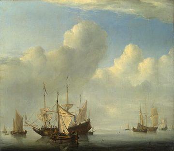 Een Nederlands schip dat naar Anker komt, Willem van de Velde