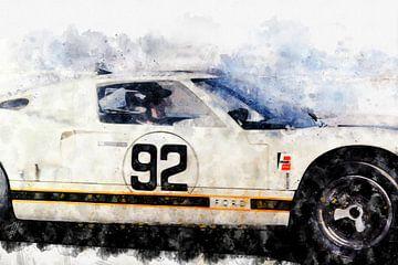 Ken Miles, Ford GT40 van Theodor Decker
