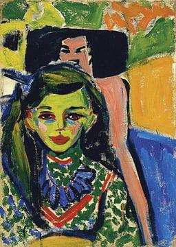 Ernst Ludwig Kirchner.Portrait eines Mädchens