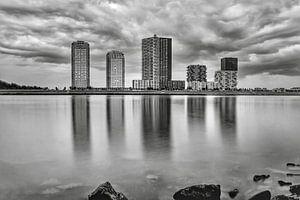 Spijkenisse Skyline schwarz und weiß von Marjolein van Middelkoop