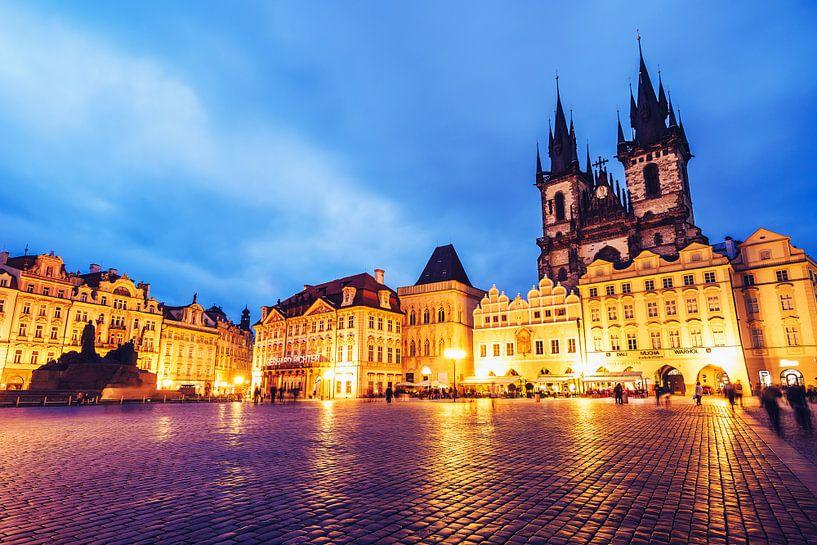 Prague - Old Town Square / Týn Church van Alexander Voss