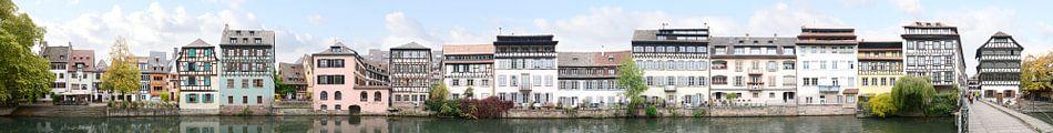 Strasbourg Petite France Panorama van Panorama Streetline