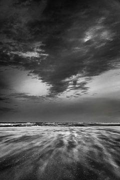 Storm op het strand