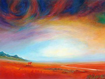 Roter Stier(3) von Silvian Sternhagel