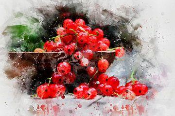 Rode bessen van Claudia Evans