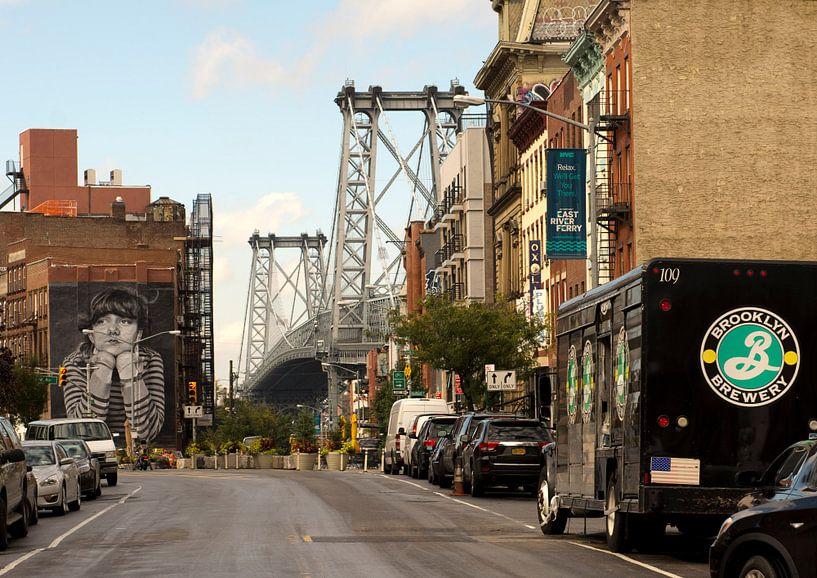 New York, Brooklyn,  Williamsburg Bridge van Ton deZwart